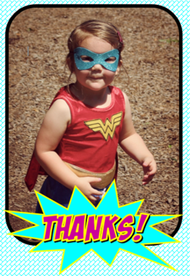 Girl Superhero Thank You_GiggleFish Creations