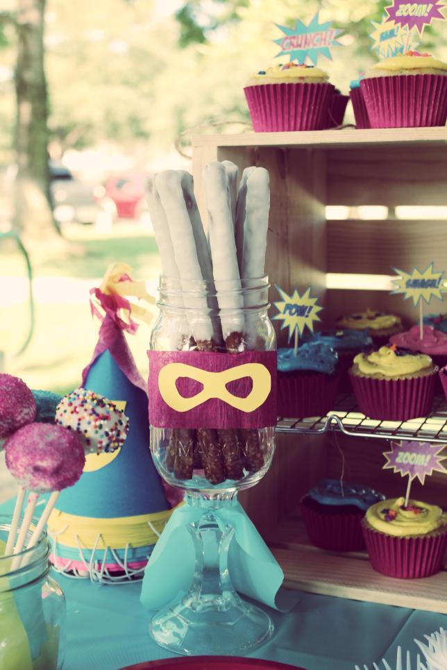 Girl Superhero Birthday Party_GiggleFish Creations