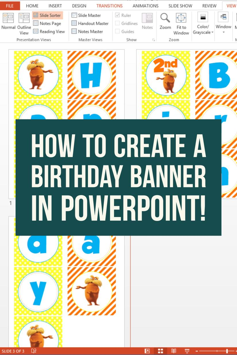 How to create birthday banner in PowerPoint