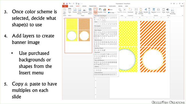 How to create a birthday banner using PowerPoint