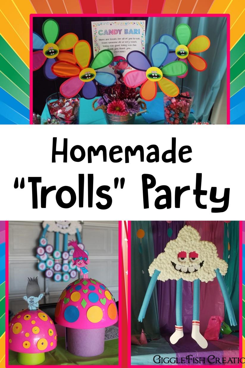 GiggleFish_Homemade Trolls party